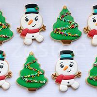 Snowmen & Christmas Tree cookies