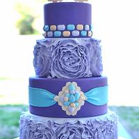 Masquered themed Quinceanera cake