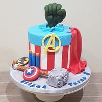 Avengers and Nerf Guns Cake