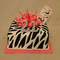 Zebra Loopy Bow