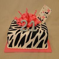 Zebra Loopy Bow