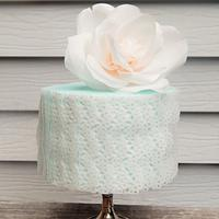 Lacy Wafer Paper Rose Cake