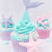 Mermaid themed cupcakes