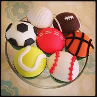Sports Balls cupcakes
