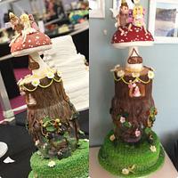 Fairy wedding, wedding cake