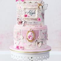 Vintage romantic princess cake