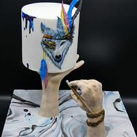 """The 1 cake collaboration """" fantasy painting """""""