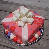 Pretty Present Cake