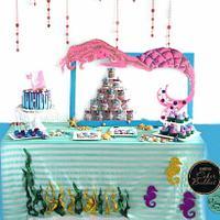 PDCA Caker Buddies Collaboration - Mermaid Theme Dessert Table