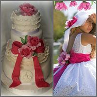 Bridesmaid Dress inspired cake
