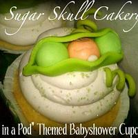Peas in a Pod Baby Shower Cupcakes