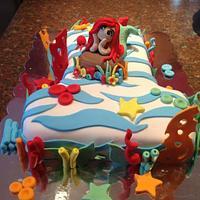 One year little mermaid cake!!!