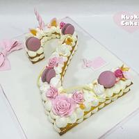 Cream tart unicorno