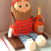 Willie Nelson Doll Cake