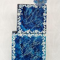 Caker buddies pottery theme collaboration- La beauté bleue