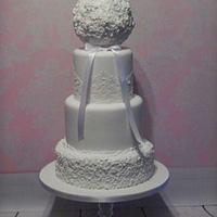 Flower pomander Wedding cake