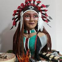 Kızılderili büst cake