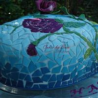 Mosaic Anniversary Cake by CakesbySasi