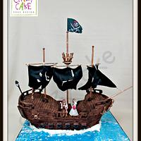 Black Pearl 3D wedding cake