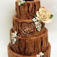 Hidden Forest Wedding Cake