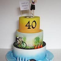 Triathlon Cake by Louisa