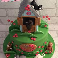 Cats and horse cake