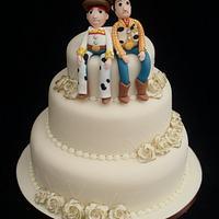 Jessie & Woody Toy Story Wedding Cake