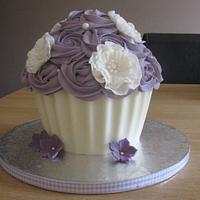 Birthday giant cupcake