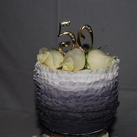 50th Anniversary Cake for my Parents