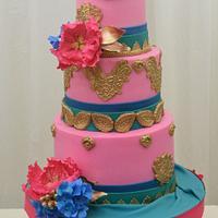 Bollywood Inspired Wedding Cake