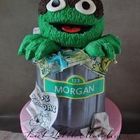 Oscar the Grouch Cake