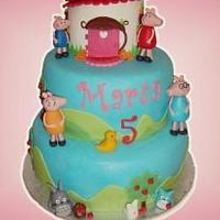Peppa pig and totoro cake by Piece of cake by Lidia Di Gregorio (Italian cakes)