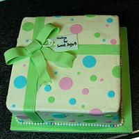 reveal baby shower cake