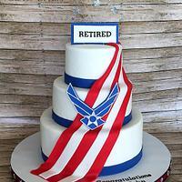 Airforce Retirment Cake