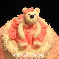 Teddy Bear Cupcake Tower by Lisa