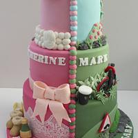 Birthday and Anniversary Split Cake