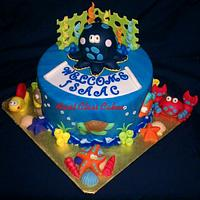 Sea Animals/Under the sea cake