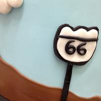 Cars themed cake by Kathy Cope