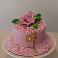 A pretty pink lady ...