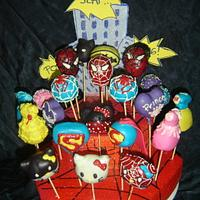 Superhero & Princess Cake Pops by Katarina