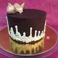 Reverse drip cake