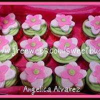 Whimsy Flower Cupcakes