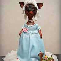 Madame Terrier. 3D dog cake.