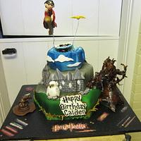 Flying Harry Potter Cake