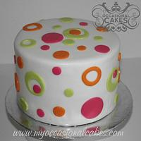 Neon Circles Cake
