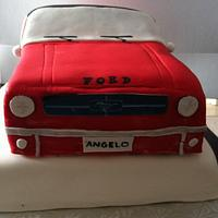 3D Mustang Cake by Cherlynn Michelizzi