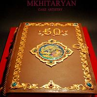 Anniversary book with hand painting