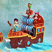 Jake & the never land Pirate Ship Cake !!
