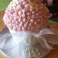 Daughters 19th Giant cupcake