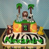 Jungle Animals Cake by BolosdoNossoImaginário